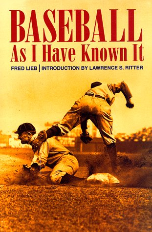 Baseball as I Have Known it als Taschenbuch