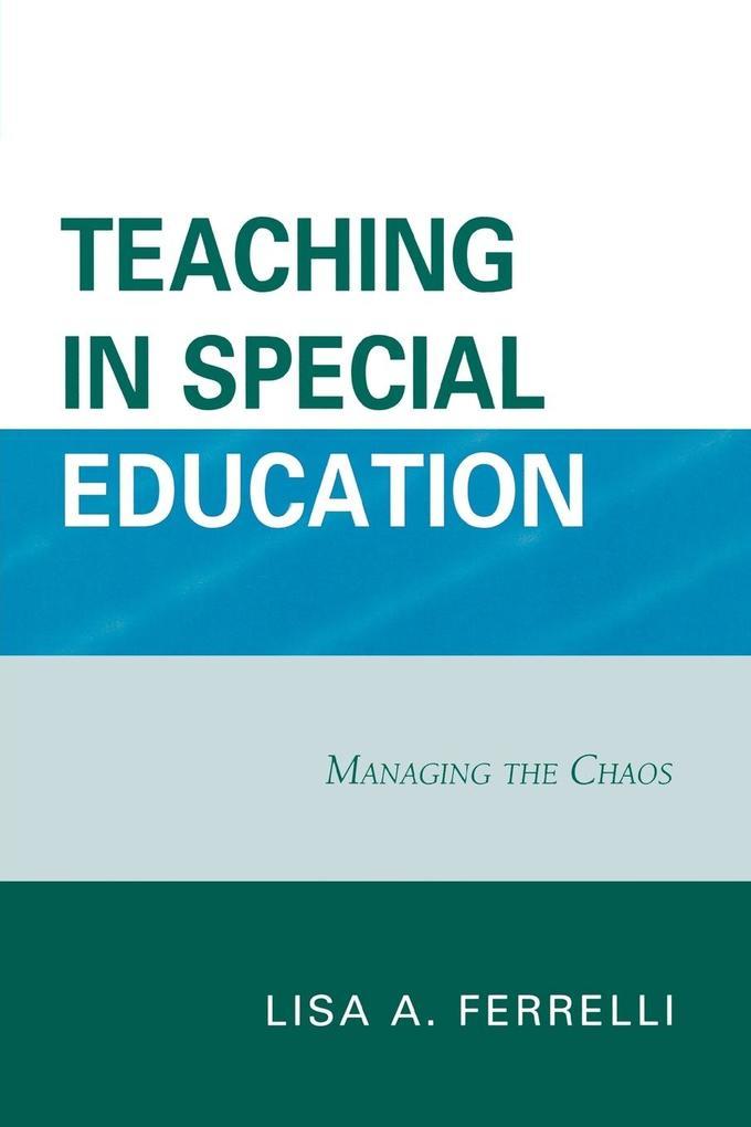 Teaching in Special Education als Taschenbuch