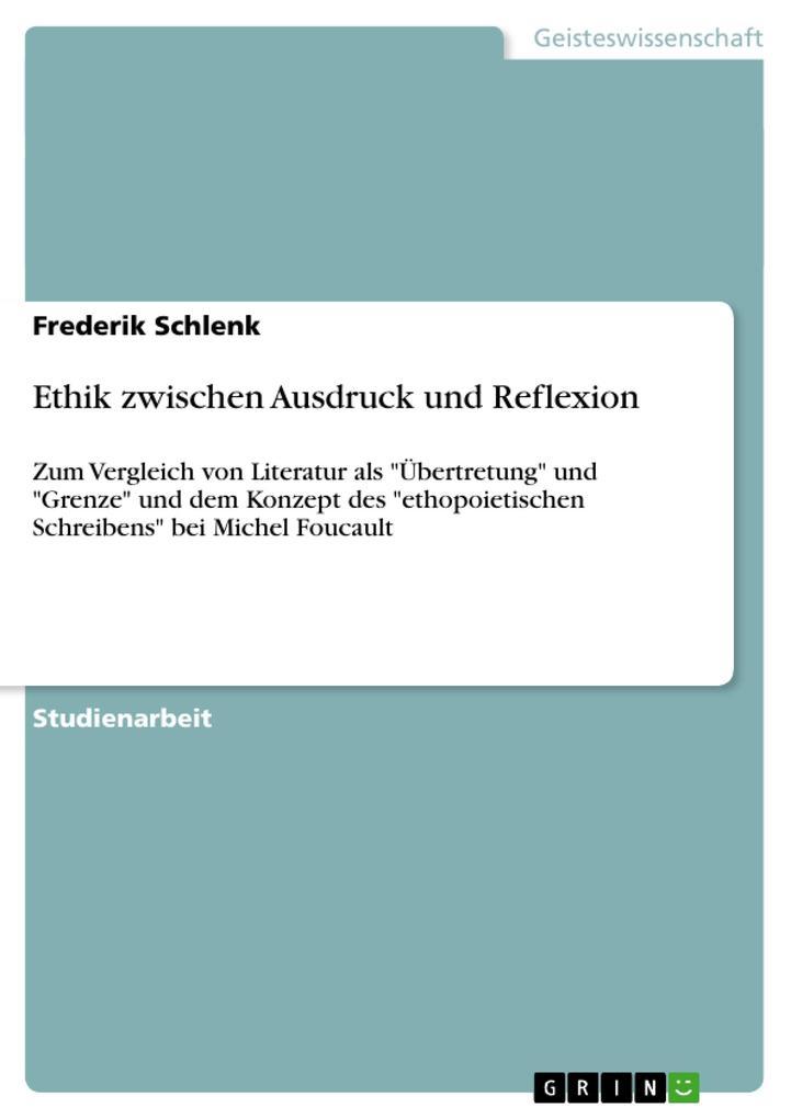 Ethik zwischen Ausdruck und Reflexion als Taschenbuch
