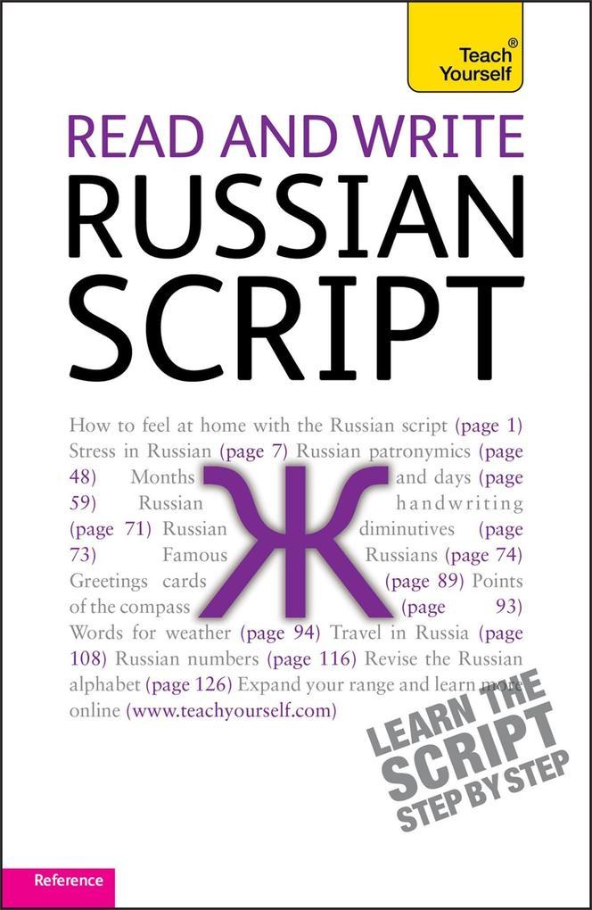 Read and Write Russian Script: Teach yourself als Buch (kartoniert)