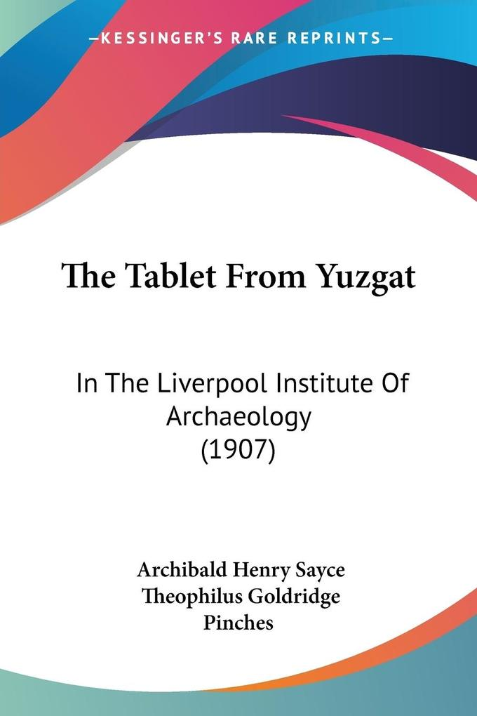 The Tablet From Yuzgat als Taschenbuch