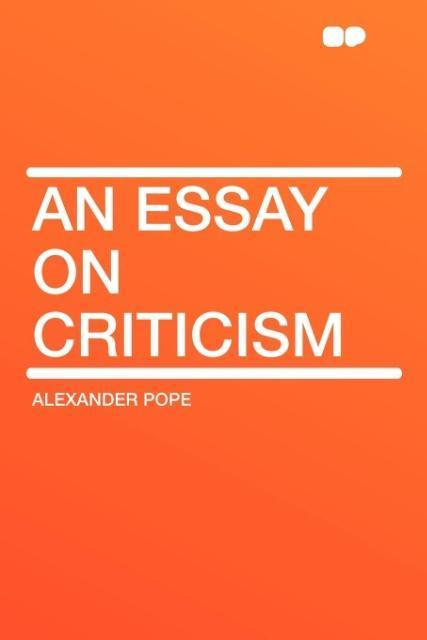 An Essay on Criticism als Taschenbuch