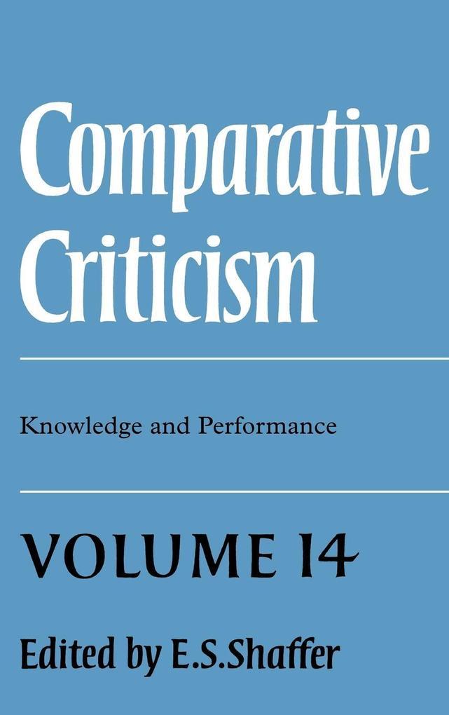 Comparative Criticism als Buch (gebunden)