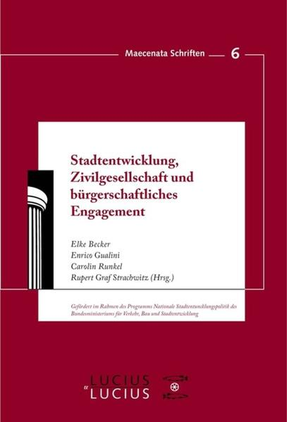 Stadtentwicklung, Zivilgesellschaft und bürgerschaftliches Engagement als Buch