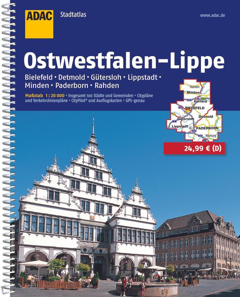 ADAC Stadtatlas Ostwestfalen-Lippe mit Bielefeld, Detmold, Gütersloh, Lippstadt 1 : 20 000 als Buch (kartoniert)