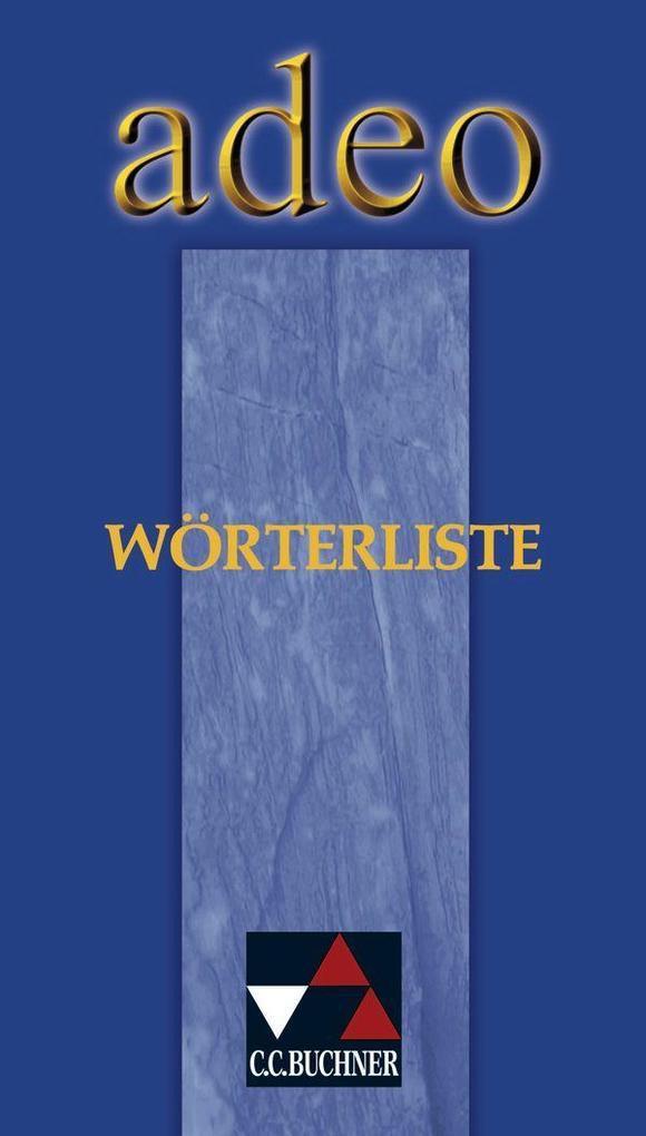 adeo Wörterliste als Buch