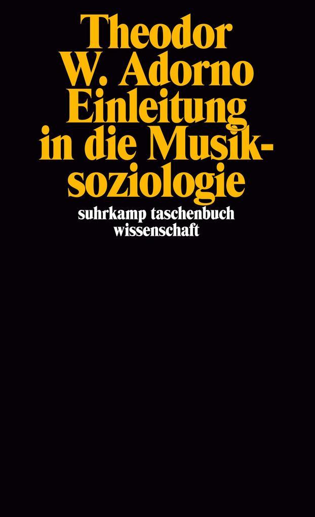 Einleitung in die Musiksoziologie als Taschenbuch