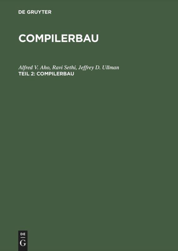 Compilerbau als Buch (gebunden)