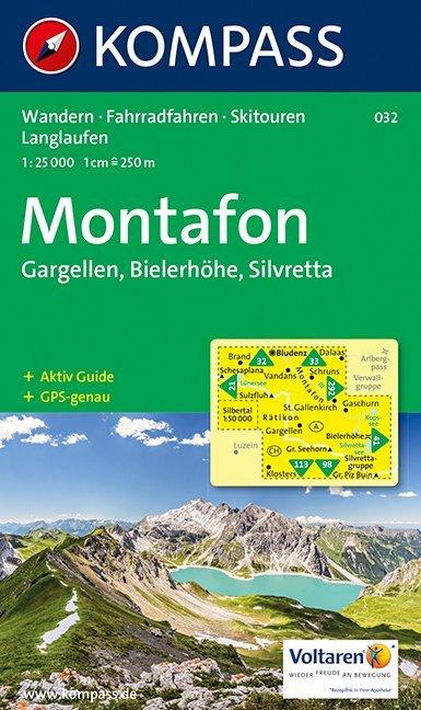 KOMPASS Wanderkarte Montafon, Gargellen, Bielerhöhe, Silvretta 1 : 25 000 als Blätter und Karten