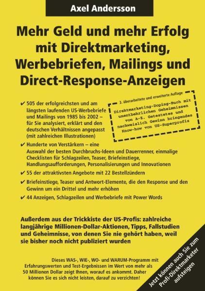 Mehr Geld und mehr Erfolg mit Direktmarketing, Werbebriefen, Mailings & Direct Response-Anzeigen als Buch (kartoniert)