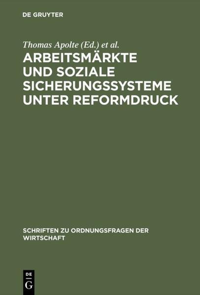 Arbeitsmärkte und soziale Sicherungssysteme unter Reformdruck als Buch (kartoniert)