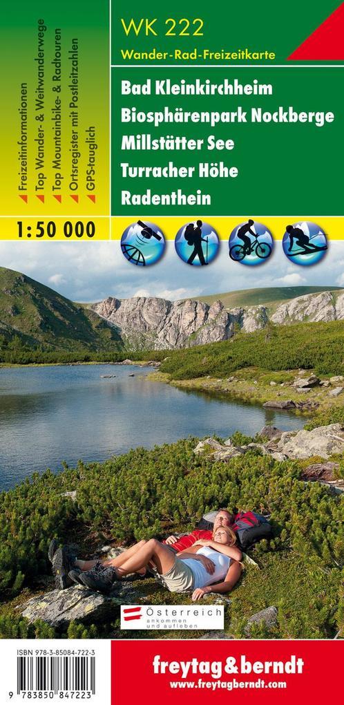 Bad Kleinkirchheim, Nationalpark Nockberge, Millstätter See, Turracher Höhe, Radenthein 1 : 50 000. WK 222 als Blätter und Karten