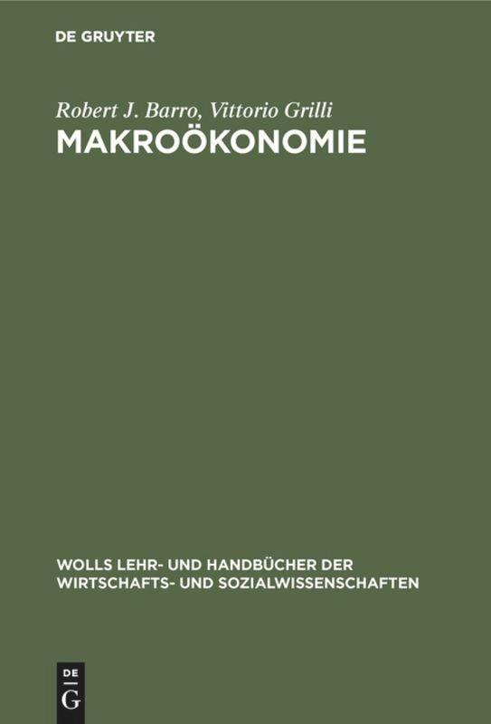 Makroökonomie als Buch (gebunden)