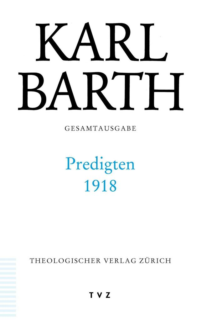 Predigten 1918 als Buch