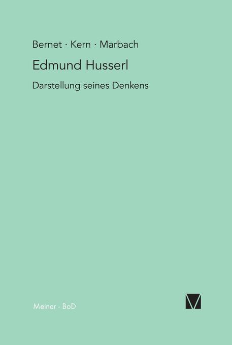 Edmund Husserl - Darstellung seines Denkens als Buch (gebunden)