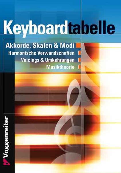 Keyboard-Tabelle als Buch (kartoniert)