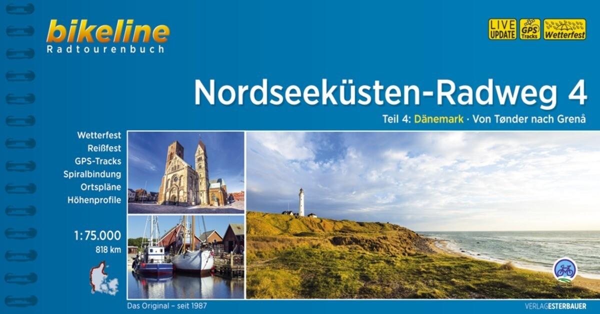 Bikeline Nordseeküsten-Radweg 4 Nordseeküsten-Radweg. 1:75000 als Buch (kartoniert)