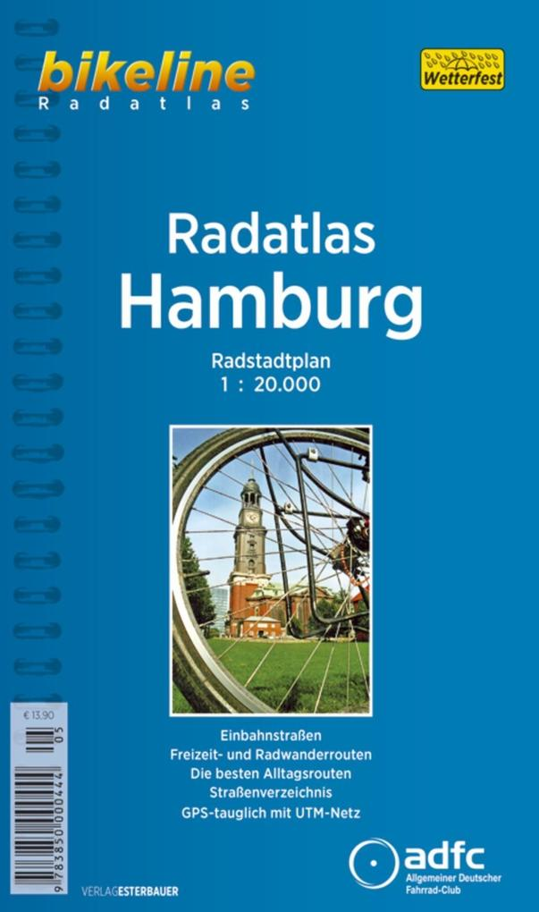 Bikeline Radatlas Hamburg 1 : 20 000 als Buch (kartoniert)