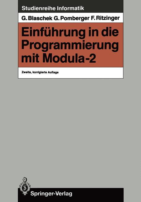 Einführung in die Programmierung mit Modula-2 als Buch (kartoniert)