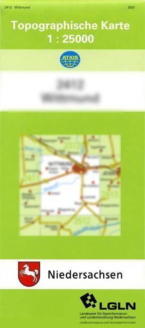 Blomberg 1 : 25 000. (TK 2411/N) als Blätter und Karten