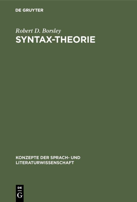 Syntax-Theorie als Buch (gebunden)