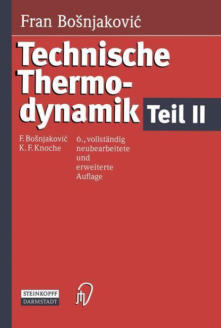 Technische Thermodynamik Teil II als Buch (gebunden)