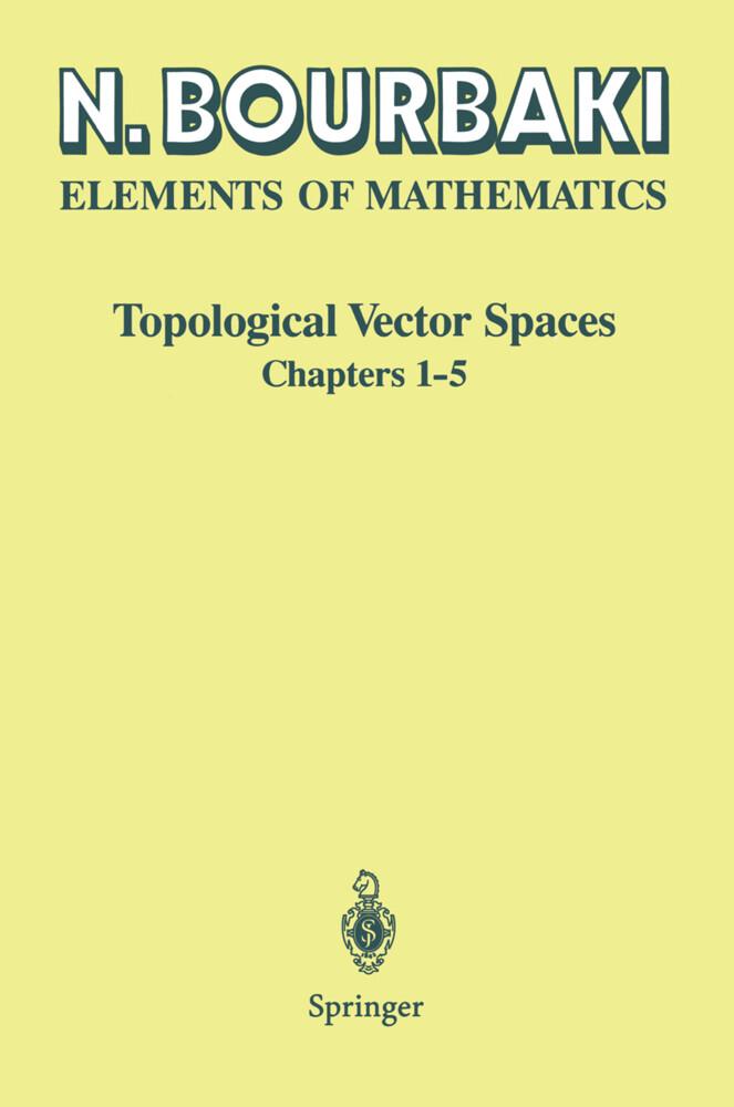 Topological Vector Spaces als Buch (kartoniert)