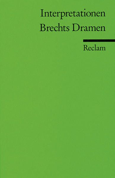 Brechts Dramen. Interpretationen als Taschenbuch