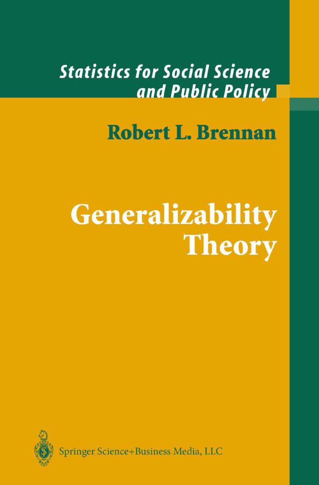 Generalizability Theory als Buch (gebunden)