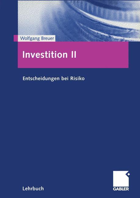 Investition II als Buch