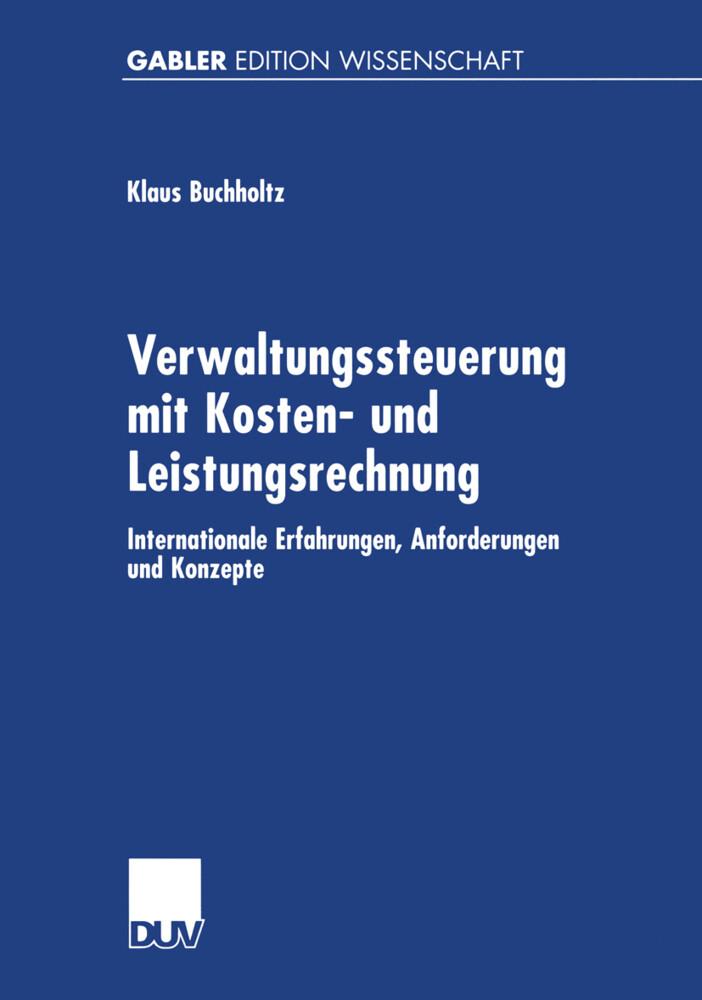 Verwaltungssteuerung mit Kosten- und Leistungsrechnung als Buch (gebunden)