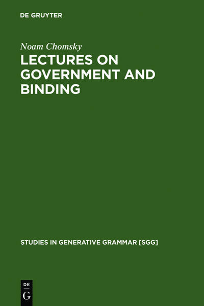 Lectures on Government and Binding als Buch (kartoniert)