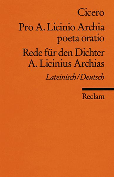 Rede für den Dichter A. Licinius Archias als Taschenbuch
