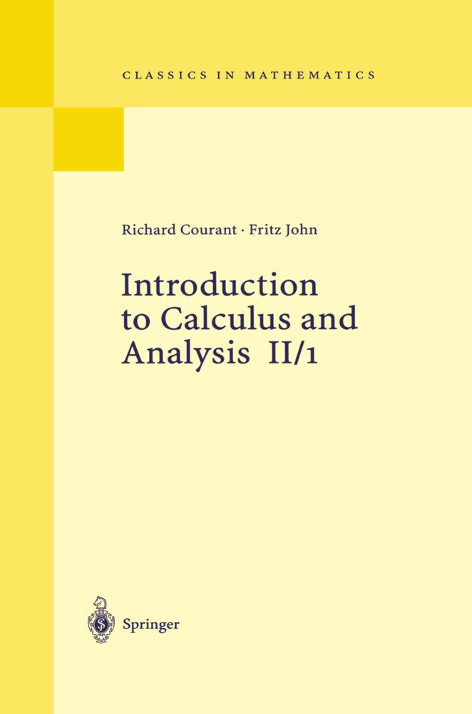Introduction to Calculus and Analysis II/1 als Buch (kartoniert)
