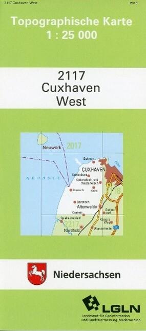 Cuxhaven West 1 : 25 000 als Blätter und Karten