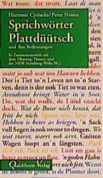 Sprichwörter Plattdüütsch und ihre Bedeutungen als Buch (kartoniert)