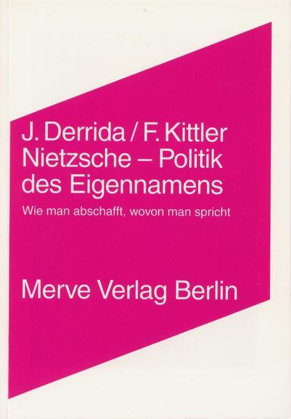 Nietzsche - Politik des Eigennamens als Buch (kartoniert)