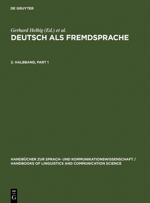 Deutsch als Fremdsprache. 2. Halbband als Buch (gebunden)