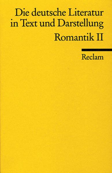 Die deutsche Literatur 9 / Romantik 2 als Taschenbuch