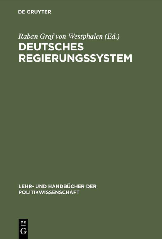 Deutsches Regierungssystem als Buch (gebunden)