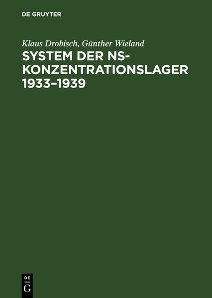 System der NS-Konzentrationslager 1933-1939 als Buch