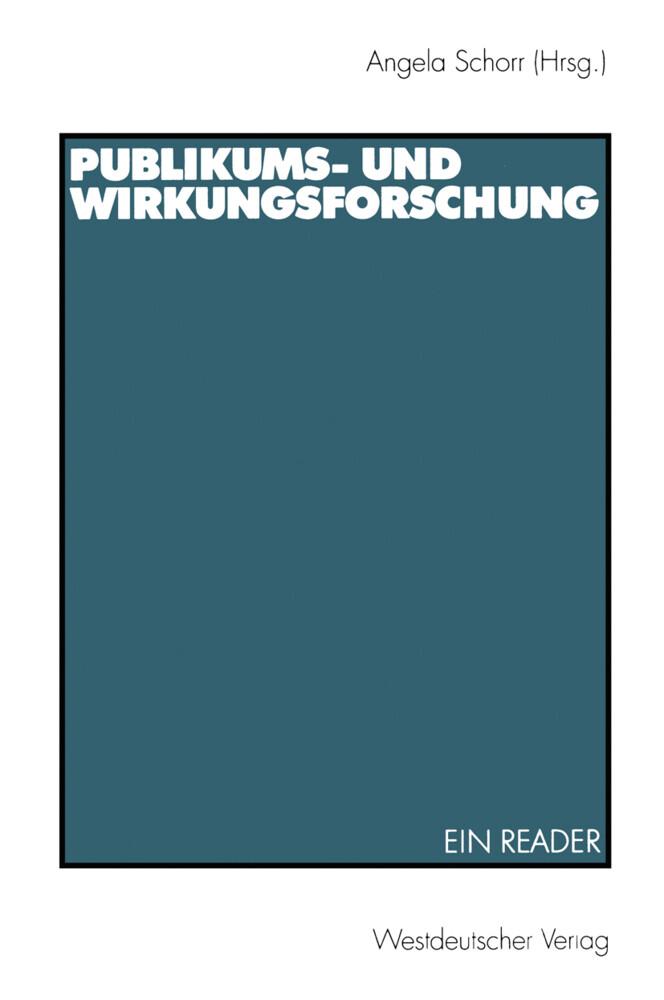 Publikums- und Wirkungsforschung als Buch (kartoniert)