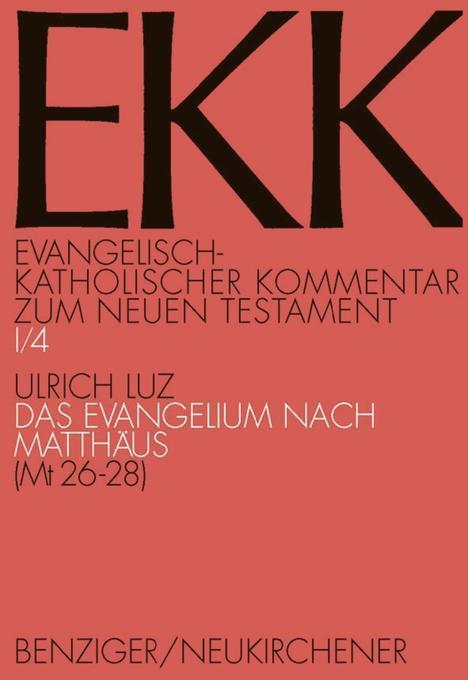 Evangelisch-kath. Kommentar zum NT / Matthäus 1 als Buch