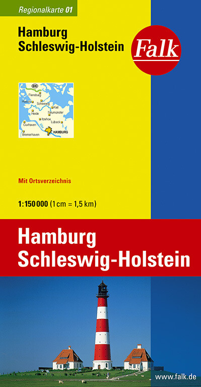 Falk Regionalkarte 01. Hamburg, Schleswig-Holstein. 1 : 150 000 als Blätter und Karten