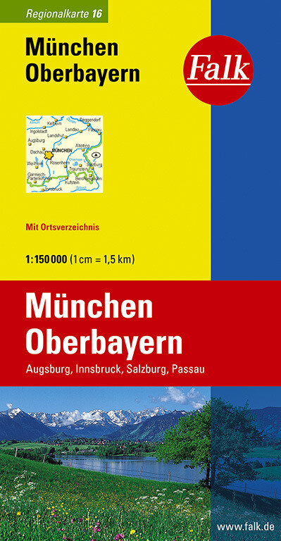 Falk Regionalkarte 16. München, Oberbayern. 1 : 150 000 als Blätter und Karten