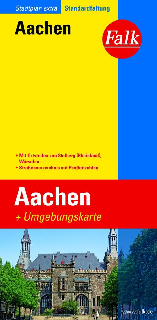 Falk Stadtplan Extra Standardfaltung Aachen 1:19 500 als Blätter und Karten