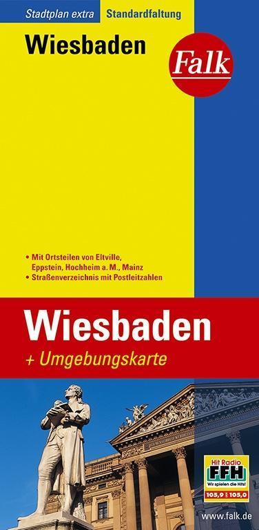 Falk Stadtplan Extra Standardfaltung Wiesbaden als Buch