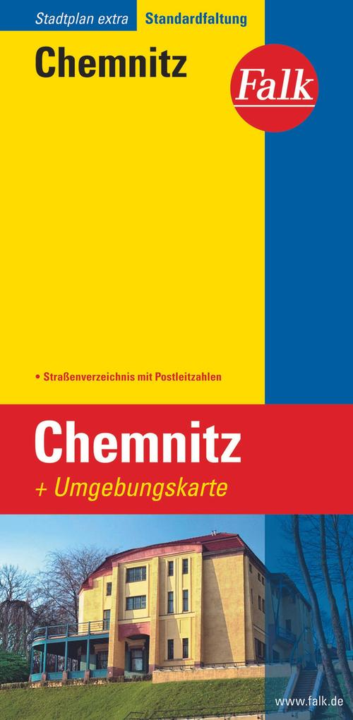 Falk Stadtplan Extra Standardfaltung Chemnitz als Blätter und Karten