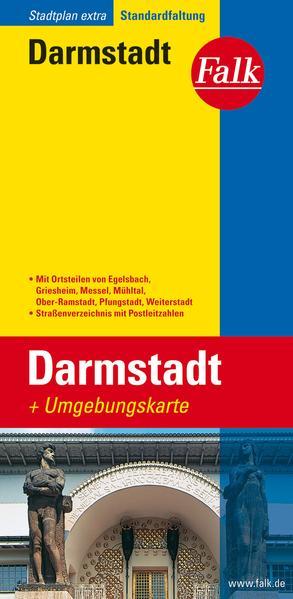 Falk Stadtplan Extra Standardfaltung Darmstadt als Blätter und Karten