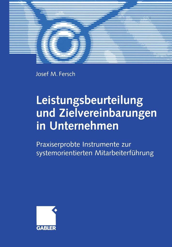 Leistungsbeurteilung und Zielvereinbarungen in Unternehmen als Buch (kartoniert)